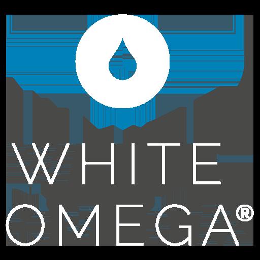 White Omega Logo weiß