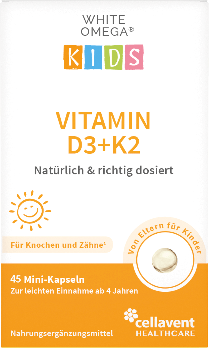 White Omega Kids Vitamin D3+K2