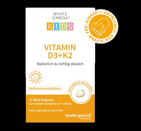 White Omega Kids Vitamin D3+K2