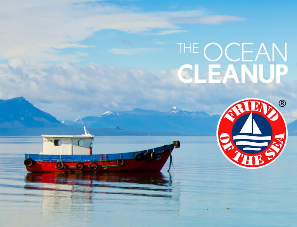 White Omega unterstützt the Ocean Cleanup und ist Friend of the Sea